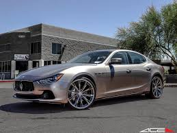 maserati quattroporte 2015 custom ace alloy aspire black chrome w machined face on maserati
