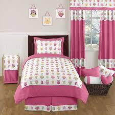Owl Queen Comforter Set Pink Owl Twin Bedding Home Beds Decoration