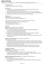 Job Guide Resume Builder by Chronological Resume Sample Emergency Response Crisis Counselor