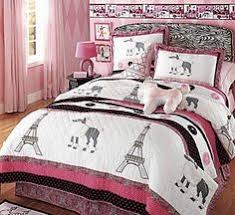 Paris Bedding For Girls by Paris Chic Eiffel Tower White Pink Grey Single Quilt Doona Cover