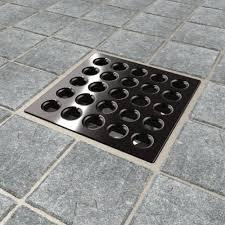 ebbe e4407 square shower drain grate rubbed bronze bathtub