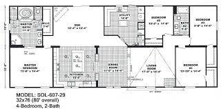 Fleetwood Manufactured Home Floor Plans 4 Bedroom 2432 Sq Ft 32x80 2002 Fleetwood Double Wide Mobile 16 X