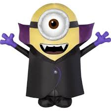 amazon com halloween inflatable 4 1 2 u0027 minion stuart vampire by