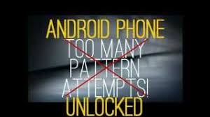 unlock android how to unlock android phone when not knowing id password after