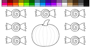 learn colors for kids and color halloween pumpkin and candy