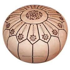 Ottoman Morocco Moroccan Leather Ottoman Footstool Pouf
