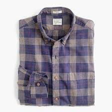 Flannel Shirts Brushed Flannel Shirt In Plaid Classic Fit Shirts J Crew