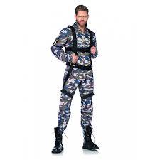 Male Halloween Costumes Paratrooper Military Man Halloween Costume Set