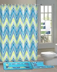 green bathroom sets with shower curtain and rugs and accessories