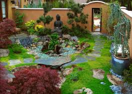 Small Space Backyard Landscaping Ideas by Super Fresh Japanese Garden In Small Space With Fish Pond And