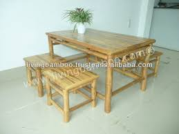 Bamboo Dining Table Set Licious Low Table Set Bamboo Garden Furniture Buy Bamboo Dining