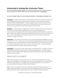 personal resume template cover letter fitness instructor resume sample personal fitness cover letter cover letter template for fitness instructor resume sample personal trainer example no experience format