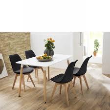 Schlafzimmer Monza Buche Esstisch Komfort Weiß Beton Sockel In Edelstahl Optik