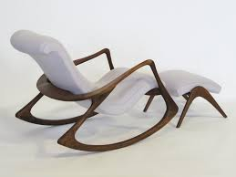 Rocking Chair With Ottoman Contour Rocking Chair And Ottoman By Vladimir Kagan At 1stdibs