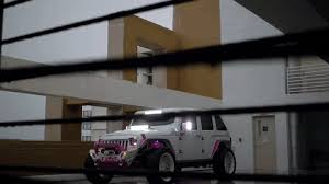 white and pink jeep white jeep wrangler by mc customs