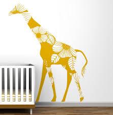 Giraffe Wall Decals For Nursery Giraffe Wall Decal Photo Design Idea And Decorations Inspiring