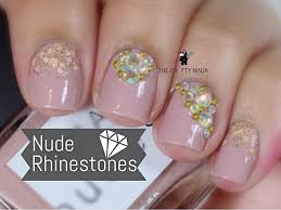 and rhinestone nail art by the crafty ninja youtube