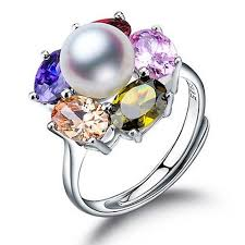 v shape diamond with fresh water pearl ring christine k jewelry fenney 100 pearl rings freshwater