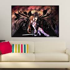 popular custom online stickers buy cheap custom online stickers custom sword art online poster wall sticker for home decorative and custom print your image sq0428