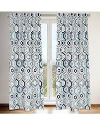Blue Grey Curtains Check Out These Bargains On Tilly Geometric Printed Tab