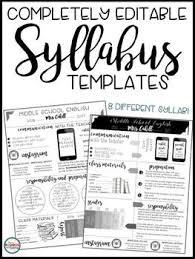 syllabus editable 8 different editable syllabus infographic