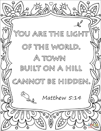 you are the light of the world a town built on a hill cannot be