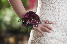 wrist corsage burgundy wrist corsage