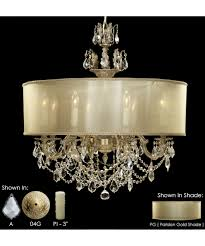 Crystal And Gold Chandelier American Brass And Crystal Ch6542 Llydia 28 Inch Wide 8 Light