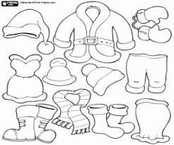clothes coloring pages santa claus clothes coloring pages printable games