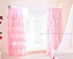 light pink ruffle curtains ruffle blackout panel nursery curtains pottery and ruffles