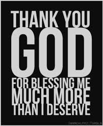 thank you god for blessing me because i sometimes i don t