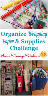 paper wrap how to organize wrapping paper gift bags