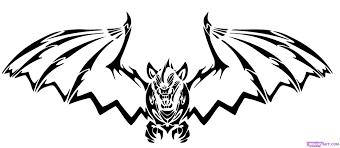 Draw Halloween How To Draw A Halloween Bat