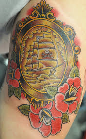 collection of 25 big ship frame tattoo picture on back