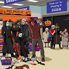 freddy jason michael myers and ghostface in tesco ransacking