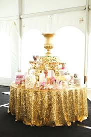 gold shimmer tablecloth factory directly wholesale 15pcs wedding