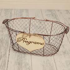 basket for wedding programs shop large wire baskets on wanelo