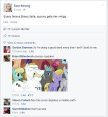 Know Your Meme Brony - every time a brony farts tara strong know your meme