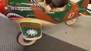 1940s original u s pursuit plane flying tiger model b695 pedal