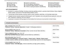 trainer resume sample unforgettable personal trainer resume