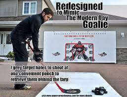 Hockey Goalie Memes - hockey shot extreme shooting tarp upper corner hockey