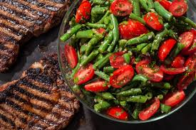 green beans for thanksgiving best recipe green bean and cherry tomato salad recipe chowhound