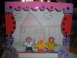 home made theater james u0026may arts and crafts blog cardboard box puppet theatre