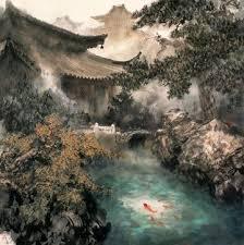 cuisine ang駘ique zhao wuchao landscape painting gorgeous