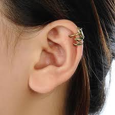 top earing 2017 new top quality vintage copper frog ear cuff women men
