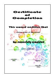 certificate of completion free template word free certificate template