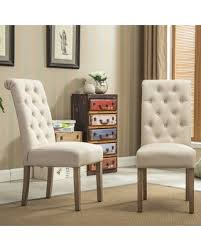 Tufted Dining Chair Set Don T Miss This Bargain Copper Grove Slader Solid Wood Tufted