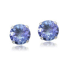 tanzanite stud earrings tanzanite stud white gold 14k earrings ebay