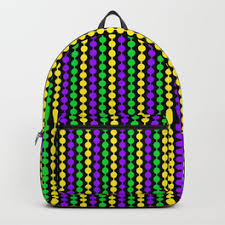 mardi gras bead bags mardi gras backpacks society6