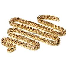 gold braided chain necklace images 60 5mm fashion jewelry wide chain necklace braided chain necklace jpg